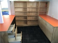 School Office Desk and Library Storage
